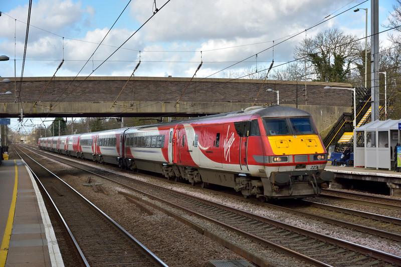 DVT82223 passes Welham Green leading 1E06 06.50 service from Glasgow Central to London Kings Cross<br /> <br /> 2 February 2016