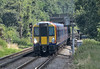 Returning from Weybridge as 2S44 14.33 service to London Waterloo, <br /> Desiro 458514 has just passed beneath St Peter's Way bridge as it approaches Chertsey<br /> <br /> As an excuse for the soft look -  rather a large crop from the original shot!<br /> <br /> <br /> 20 July 2016