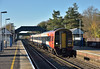 159005 halts at Grateley with 1L38 the 11.47 service from Salisbury to London Waterloo<br /> <br /> 29 November 2016