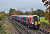 Desiro 485524 passes St John's Way Chertsey working 2S32 11.33 service from  Weybridge to  Waterloo<br /> Taken as a test shot prior to the GatEx 'drag' which was following behind.<br /> <br /> 18 November 2016