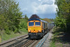 GBRf Class 66 No.66767  passing Egham  with 4Y19 1219 Mountfield Sidings (Gbrf) to Southampton W Docks <br /> <br /> 26 April 2017