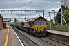 With bright sunshine fading to just a bright overcast  it was possible to cross to Platform 2 and catch 66102 as it passed through Pangbourne leading  6M48  empty car carriers from Southampton Eastern Docks to Halewood (Jaguar Cars)<br /> <br /> 28 April 2017