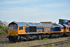 GBRf Class 66 No.66758 and 66730 stabled at Eastleigh<br /> <br /> 28 August 2017