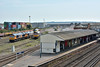 GBRF Class 66 Nos.66758 /66730 / 66775 share the stabling point at Eastleigh with Colas 66748<br /> <br /> 28 August 2017