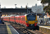 SWT new Desiro Class 707 No's 707003 / 707005 roll into Egham working test run  5Q34 from Reading to Staines Up Loop<br /> <br /> 13 February 2017