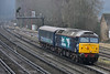 DRS Class 57 No.57007 + Coach 17159  working5Z68 ecs from Eastleigh Arlington to Norwich Crown Point<br /> <br /> 25 January 2017