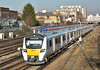 Thameslink Desiro City Class 700 No.700017 draws away from Wimbledon forming 2V67 13.14 service from Luton to Sutton (Surrey)<br /> <br /> 24 January 2017