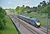 Class 395 Javelin No.395016 crosses Lenham Heath  on CTRL forming 1J30 12.12  from St Pancras International to Margate<br /> <br /> 25 May 2017