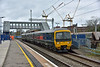 165114  rolls through West Drayton working 2P44 the 10.37 service from  Oxford to London Paddington.<br /> The new footbridge is not yet in service. The cranes behind belong to construction work taking place just across the road from the station.<br /> <br /> 21 November 2017