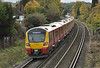Recently delivered to the UK on 14 October, 707028/707029 pass Egham running as 5Q40  from Staines Up Loop to Reading<br /> <br /> 24 October 2017