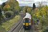 The first bright spell for some days brings out the autumn colours as <br /> 458513 nears Egham working 2S42 14.03 from  Weybridge to London Waterloo<br /> <br /> 24 October 2017