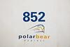 Polar Bear Express logo on coach 852.