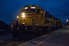 Polar Bear Express arriving in Cochrane behind GP38-2 locomotives 1809 and 1802.