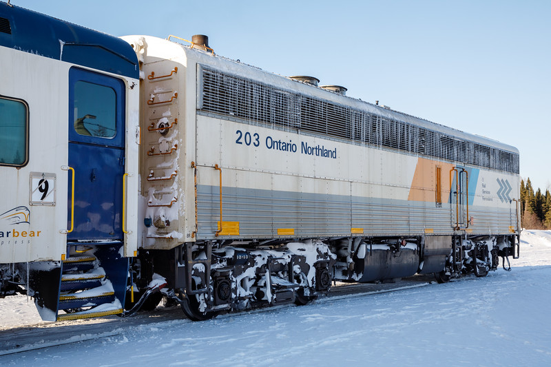 Auxiliary Power Unit (APU) 203 second APU on the Polar Bear Express.