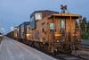 Ontario Northland Railway ballast train in Moosonee. Caboose 1873.