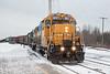 GP38-2 1801 leads Ontario Northland Railway freight 419 into Moosonee.
