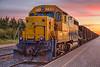 Ontario Northland Railway ballast train in Moosonee behind GP40-2 2202. HDR efx balanced.