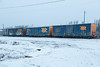 Three boxcars, three different size chevrons. ONT 7603, 2707, 2811.