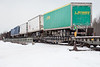 Trailers on flatcars in consist of freight 419.