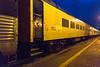 Polar Bear Express in Cochrane at night. Coach 851.