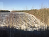 Ice in south (blocked) channel of the Moose River at Moose River Crossing 2016 May 10th.