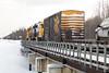 Polar Bear Express in Moosonee 2018 February 16th. GP38-2 locomotives 1805 and 1809.