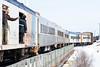 Passenger consist of the Polar Bear Express coming into Moosonee.