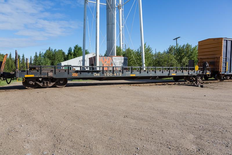 Flatcar 100412 in Moosonee.