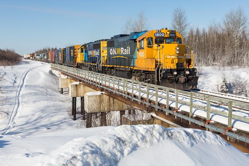Freight 419 on Store Creek railway bridge.