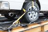 New method of securing vehicles on flatcars. Flatcar 100507