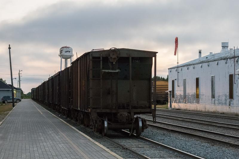 Rock (ballast) train in Moosonee.
