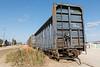 Centrebeam bulkhead flatcar ONT 4108 at barge docks in Moosonee.
