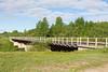 Railway bridge over Store Creek in Moosonee. Mileage 186.04 from Cochrane.