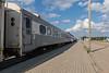 Passenger consist of the Polar Bear Express in Moosonee. Coach 601.
