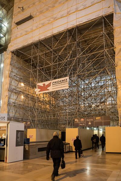 Union Station Great Hall under renovation.