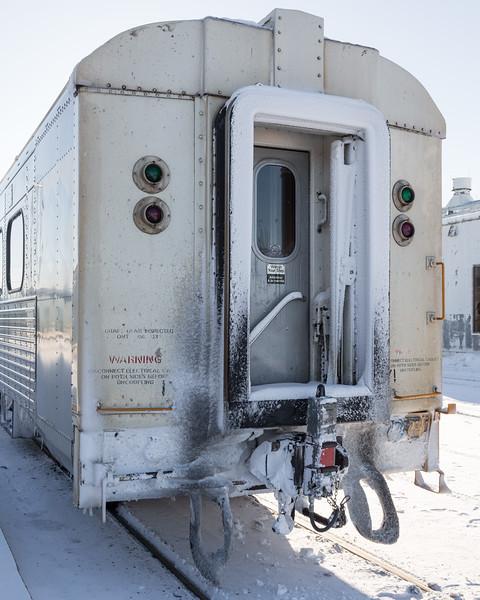 End of train device on the Polar Bear Express in Moosonee.