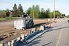 Moosonee train station platform repairs.