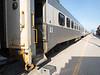 Passenger consist of the Polar Bear Express: coach 604, snck 702, coaches 603 and 615.