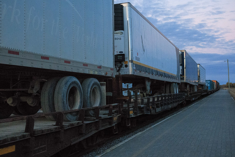 Freight ready to head south.
