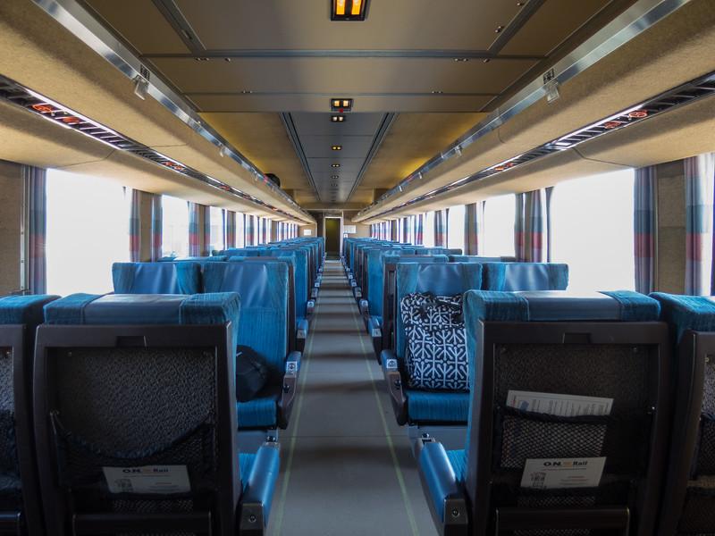 Coach 603 interior.