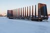 Centre post bulkhead car ONT 4034 on Revillon Road in Moosonee.