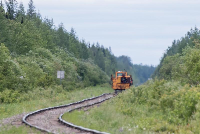 STM Tamper down the tracks. Heat blurs.