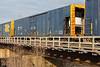 Freight 419 arrives in Moosonee behind GP38-2 locomotives 1802 and 1809. Car 250.