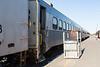 Polar Bear Express passenger consist. Three coaches and snack car 702.