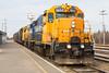 Freight 419 in Moosonee Station.
