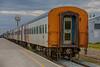Polar Bear Express passenger consist in Moosonee station. HDR efx default.