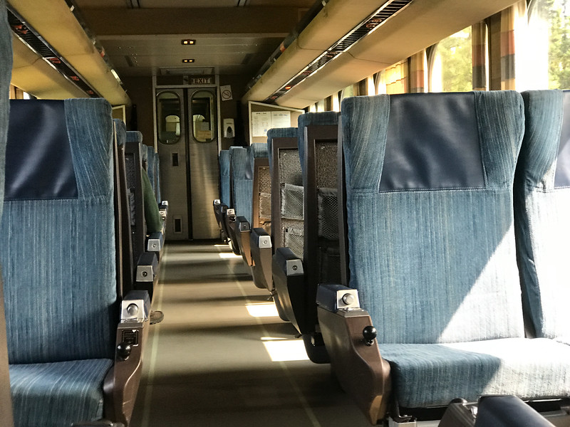 Low level view interior of coach 615