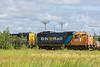 GP38-2 1808 and GP40-2 2202 swtiching in Moosonee.