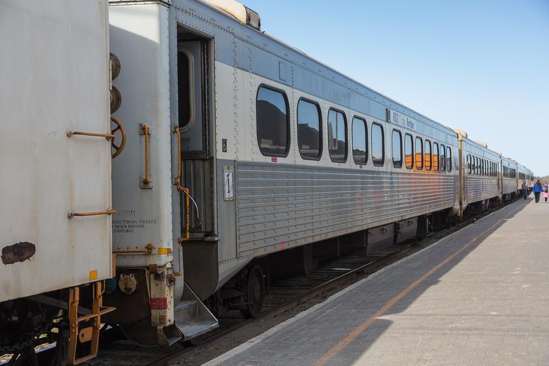Passenger coaches of the Polar Bear Express