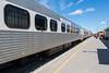 Polar Bear Express along station platform in Moosonee. Coach 615.